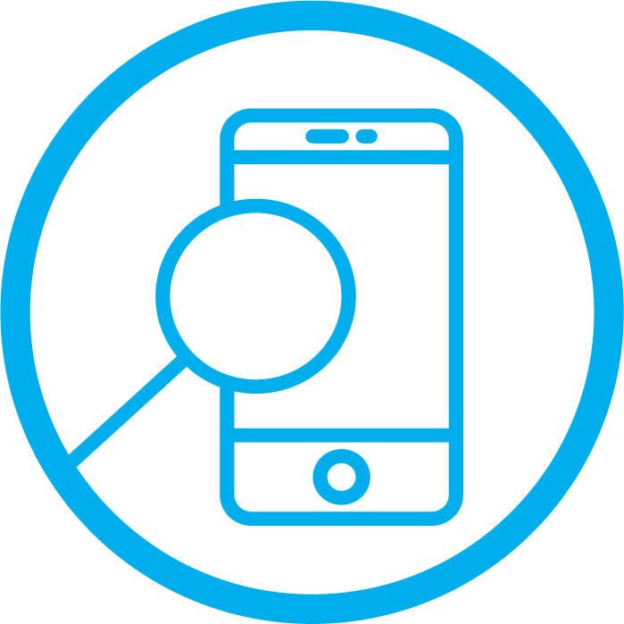 iwant2work employer blue icon phone search